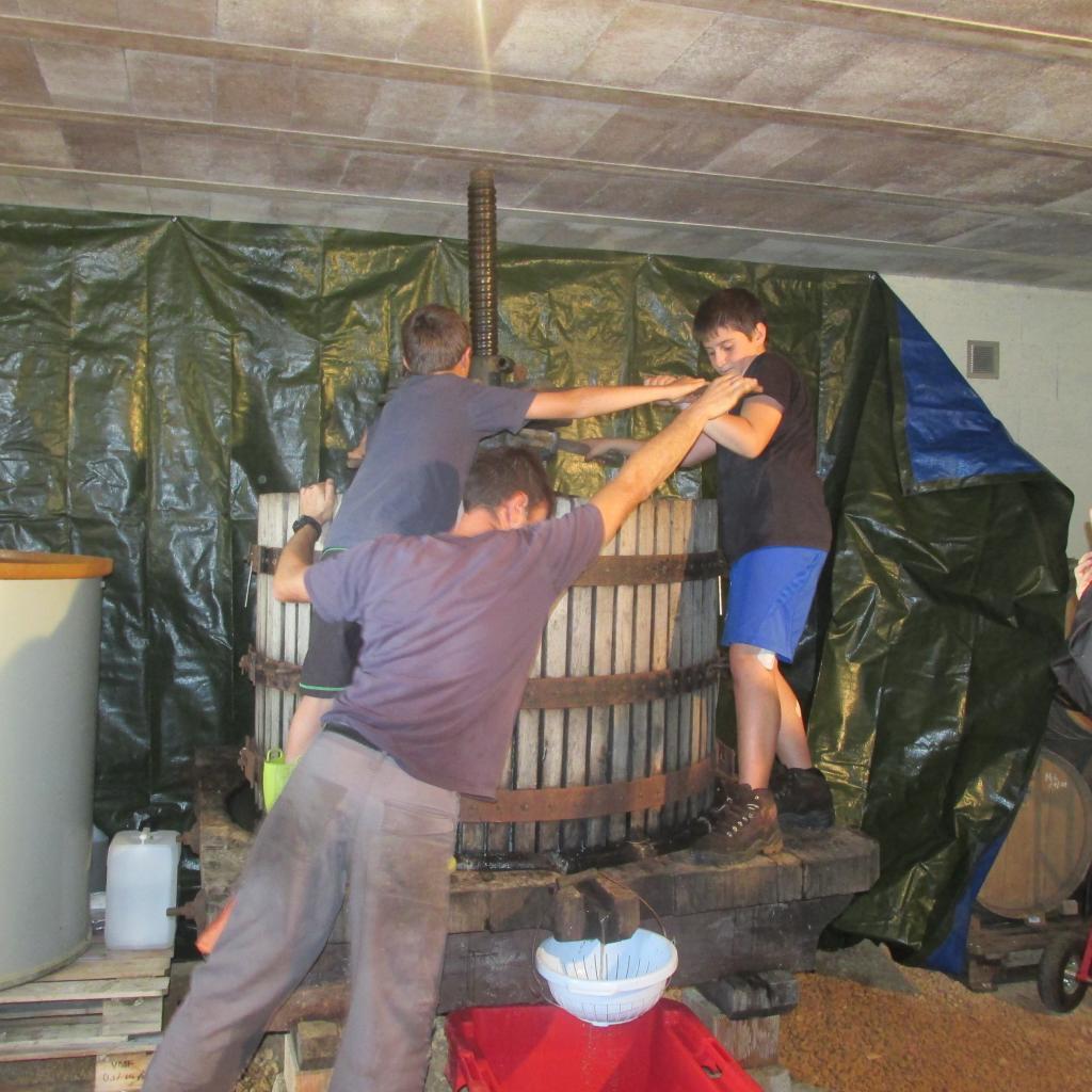 Pressoir en bois