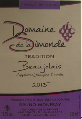 Beaujolais rouge tradition